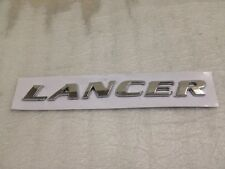3D EMBLEM REAR BOOT BADGE CHROME LETTERS FOR MITSUBISHI LANCER ADHESIVE 3M