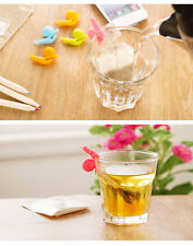 5pcs Cute Snail Shape Silicone Tea Bag Holder Cup Mug Candy Colors Gift Set COOL