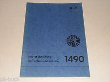 Betriebsanleitung Handbuch Steyr Lastkraftwagen LKW Typenreihe 1490, Stand 1970