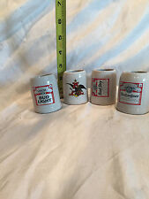 BUD LIGHT, A, BUD DRY, OR BUDWEISER BEER CERAMIC STEIN MINI SHOT GLASS PRICE EA.