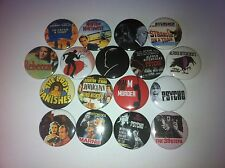 17 Alfred Hitchcock badges Psycho Rear Window 39 Steps Virtigo Birds Marnie