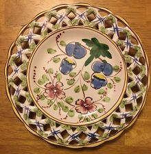 Decorative Plate 9 In., Flowers, Made in Portugal, Jay Willfred, Andrea by Sadek
