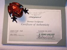 """Todd - ES, Red"" by Frogman Tim Cotterill Limited Edition Bronze Frog"