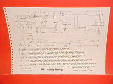 1968 MERCURY MONTEGO MX CONVERTIBLE COMET CYCLONE GT COUPE FRAME DIMENSION CHART