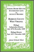 School Board Minutes, Enumerations Lists and Account Records, Barbour County,...