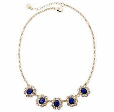 MONET ELEGANT PRINCESS STYLE BLUE & CLEAR CRYSTAL NECKLACE! NEW! FREE SHIP!