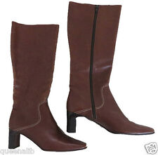 COLE HAAN COUNTRY TALL high soft Italian LEATHER cognac brown boots $275 8.5 B