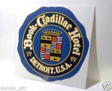 Book Cadillac Hotel Detroit Old Style Travel Decal / Vinyl Sticker,Luggage Label