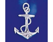 Sterling Silver Mariners Cross Anchor Pendant Sailor Charm Solid 925 Italy New