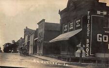 Real Photo Postcard Automobile on a Street Scene in Radcliffe, Iowa~110950