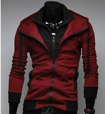 Men's Slim Fit Casual Hooded Cardigan Sweater Jacket