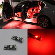 4x Error Free Red LED SMD Door light bulbs For BMW E90 E91 M3 3 series 2005-2012