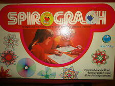 vintage SPIROGRAPH toy 1975 Kenner Pens don't work 2 pcs missing Has Instruct