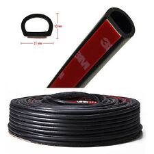 "Universal 4M 157"" D-shape Car Door Rubber Weather Seal Hollow Strip Weatherstrip"