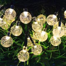 6m Natale Giardino Festa Matrimonio Lucine a LED con Pannello Solare Luce