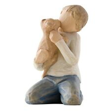 New & Boxed Willow Tree Figurine Boy with Dog 'Kindness #26217 Mothers Day Gift