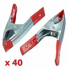 "40 x 6"" 14cm METAL SPRING CLAMPS CLIP GRIP HOLD RUBBER COATED HANDLES DIY CRAFT"
