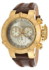 Invicta 80536 Subaqua Ladies Swiss Chronograph Brown Calfskin flame fusion Watch