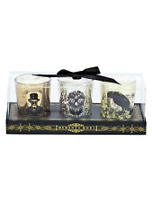 D.L. & Co Luxury Designer Candle Skull Raven Top Hat Skeleton Gothic Set of 3