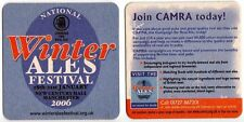 UK Beer Mat /Coaster - CAMRA Winter Ales Festival, Manchester 2006