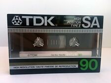 TDK SA 90 BLANK AUDIO CASSETTE TAPE NEW RARE 1985 YEAR USA MADE KIND #1