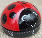 LADY BUG BLACK AND RED 60 MINUTE MECHANICAL TIMER