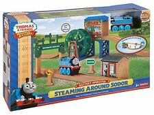 Fisher-Price Thomas Wooden RAILWAY, Steaming Around Sodor Play TRAIN SET