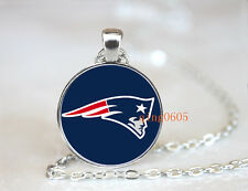 New England Patriots football NFL Glass Cabochon Chain Pendant Necklace Jewelry