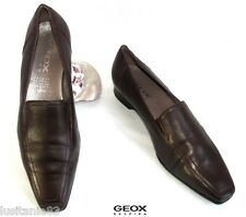 GEOX - MOCASSIN HEELS 2.2 CM ALL LEATHER BORDEAUX 37.5 - EXCELLENT CONDITION