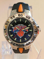 New York Knicks Classic Silver Tone Steel Rubber Band Mens Sports WATCH in box