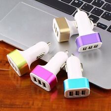 Colorful 3-Port USB Car Charger Adapter For Samsung Galaxy S6 Note 5 4 iPhone AI