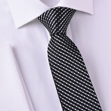 "Grey Purple Luxury Geometric 3"" Skinny Tie Luxury Fashion Boss Suit Accessory GQ"