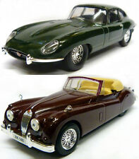 Jaguar E Type and Jaguar XK40 - 1:43  Scale Diecast Models