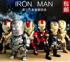 Action Figure- SD baby Mini Iron Man  3 inch 9cm LED Light Up A set of 6   A3