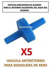5X VALVULA ANTIRETORNO para ACUARIO Tubo Aire y CO2 Oxigenador bomba difusor
