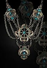 Restyle GOTHIC/ STEAMPUNK Pendant Necklace : Octopus Tentacles Turquoise Kraken