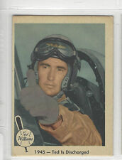 1959 FLEER TED WILLIAMS # 25 1945-TED IS DISCHARGED NICE CARD