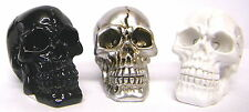 Skull Ornament Decorations Set Of 3 Gruesome Small Heads New Halloween