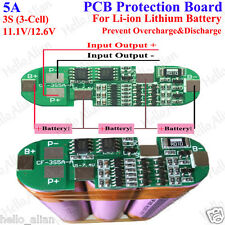 5A PCB BMS Protection Board for 3 Packs 11.1v 18650 Li-ion lithium Battery Cell
