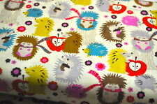 MICHAEL MILLER HEDGEHOG CHILDREN POETRY FOREST USA designer fabric 0.5 m x 1.10