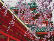 """Goldmilky cross stitch kit  ''Japanese palace"""" 16x12  inch (a30)"""