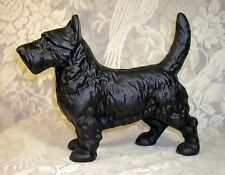 STANDING SCOTTIE DOG STATUE ~ Heavy Cast Iron Doorstop ~ Black Scottish Terrier