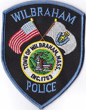Wilbraham Police Patch Massachusetts MA NEW!!