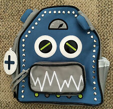 The Company Store Kids Boys or Girls Backpack Back Pack Bag Blue Gray OS Robot