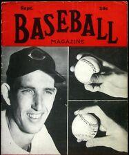 Baseball Magazine - 1947 September - Ewell Blackwell Cincinnati Reds Cover
