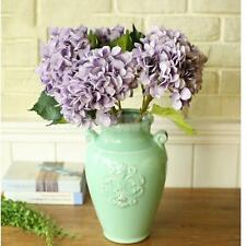 Artificial Hydrangea Rose Silk Peony Flower Room Garden Wedding Decor-Purple