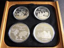 1976 Four-Coin Sterling Silver Canadian Olympic Set. Includes Wood/L... Lot 207