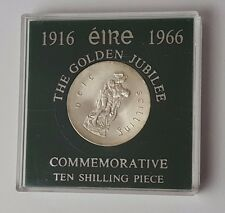 1916 to 1966 - Eire Golden Jubilee - Commemorative - Ten Shilling Piece - Cased
