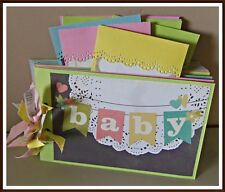 Baby Premade Mini Scrapbook Album First 12 Months Premade Pages SC4S