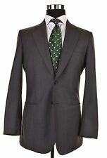 Giorgio Armani Made in Italy Woven Gray Birdseye Wool CASHMERE Sport Coat 48 38